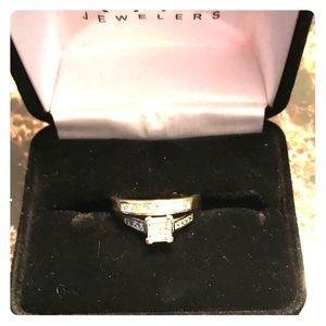 Jewelry - 14k Princess Cut Diamond Ring/Band